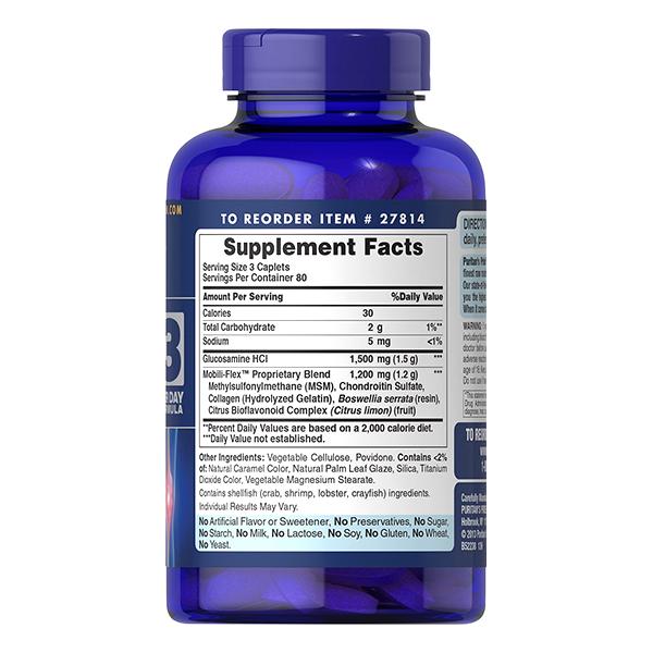 Thực Phẩm Chức Năng - Viên Uống Giảm Viêm Khớp, Tăng Cường Dịch Khớp, Giúp Khớp Vận Động Linh Hoạt Double Strength Glucosamine (240 Viên)