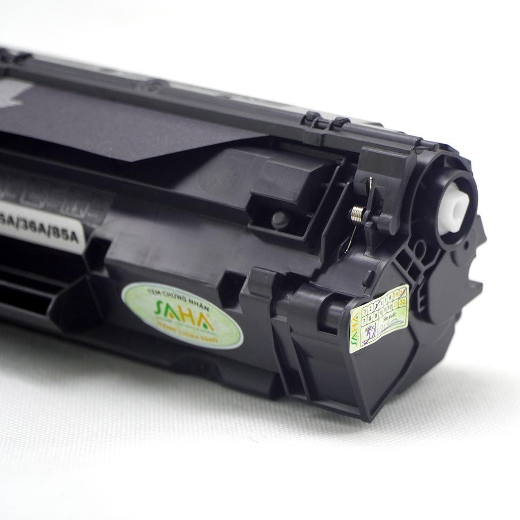 Hộp mực in SAHA 35A/36A/85A cho máy in HP, Canon - Hàng chính hãng