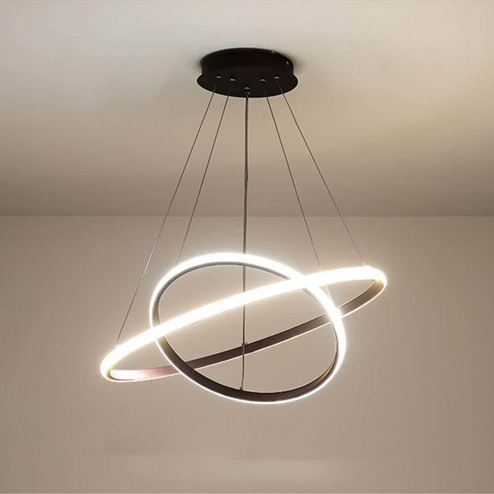 Đèn chùm Gudea đen/trắng 40+60-62W, Đèn chùm phòng bếp, Đèn thả phòng khách, Đen treo trần trang trí cao cấp