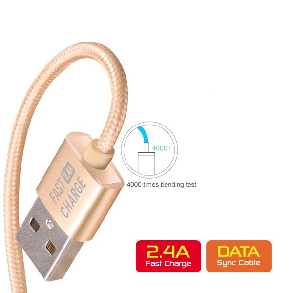 Cáp micro-USB sạc nhanh và truyền dữ liệu ZCC-117 - Hàng Chính Hãng