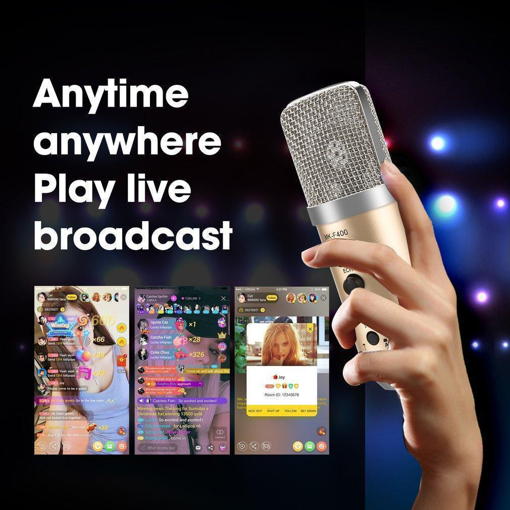 Microphone Thu Âm Live Stream MK-F400USB Kết Nối Qua Cổng USB Cao Cấp AZONE