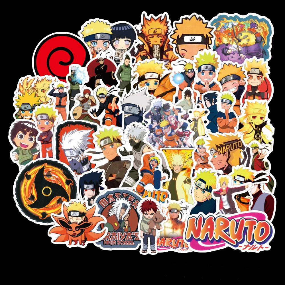 Bộ 50 Tấm Sticker Naruto Chống Thấm Nước Dán Nón Bảo Hiểm, Vali, Xe, Laptop