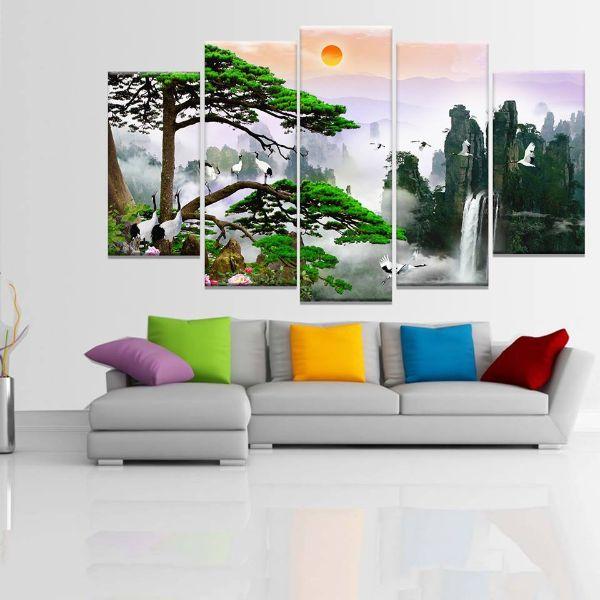 Tranh Canvas treo tường nghệ thuật | Bộ 5 bức | HLB_071