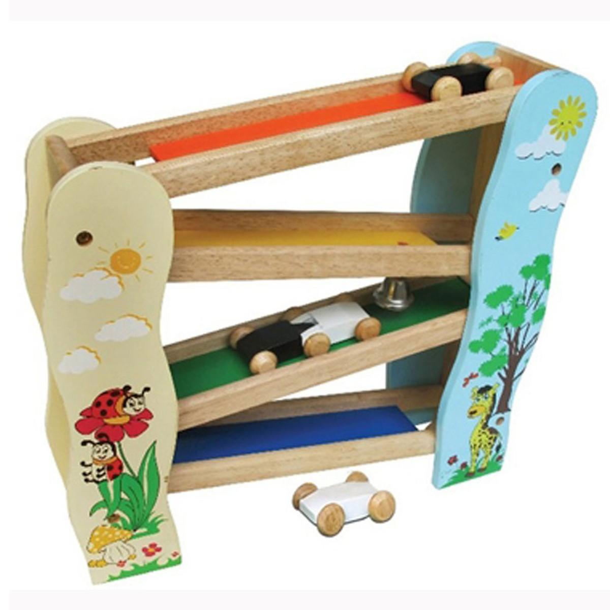 Trò Chơi Trượt Xe 2 Mk - Đồ chơi gỗ
