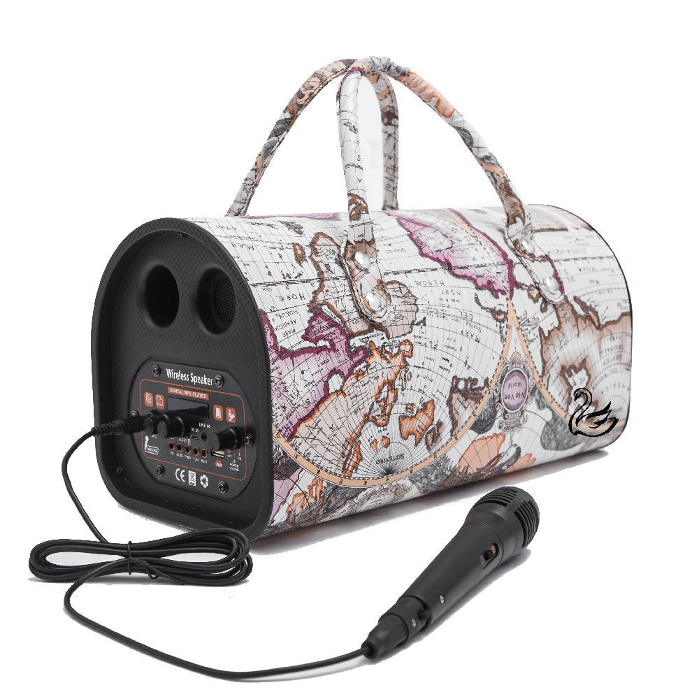 Loa Bluetooth Karaoke 2GOOD Peak 6, Có Micro, Quai xách thời trang - Hàng Chính Hãng