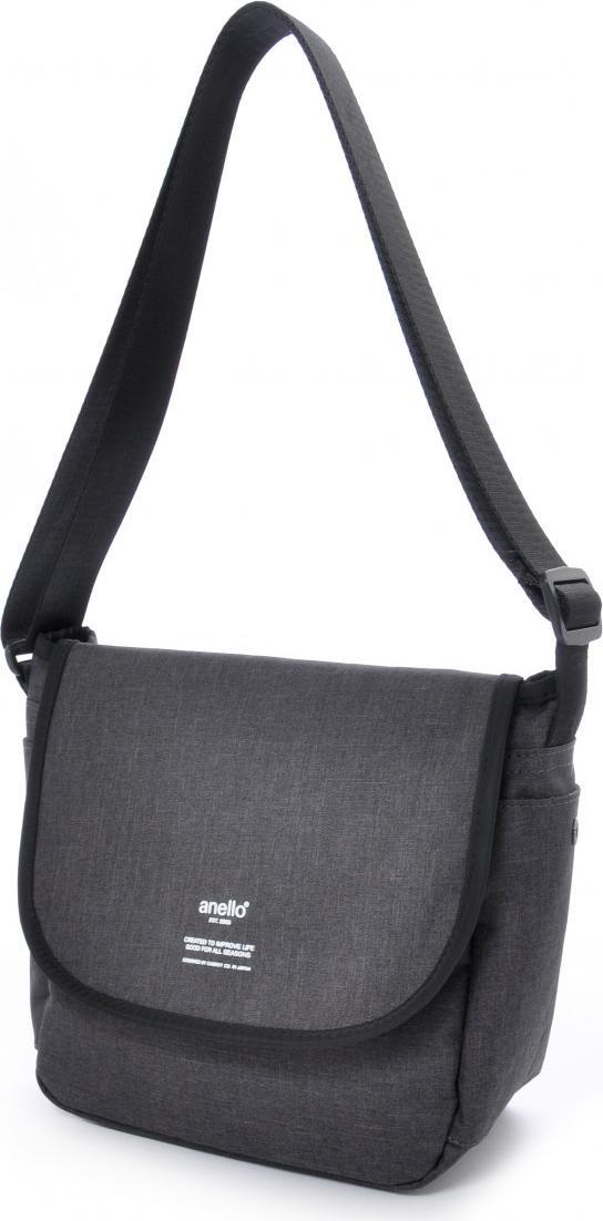Túi đeo chéo ANELLO unisex vải polyester cỡ nhỏ AT-N0661 - Màu Đen