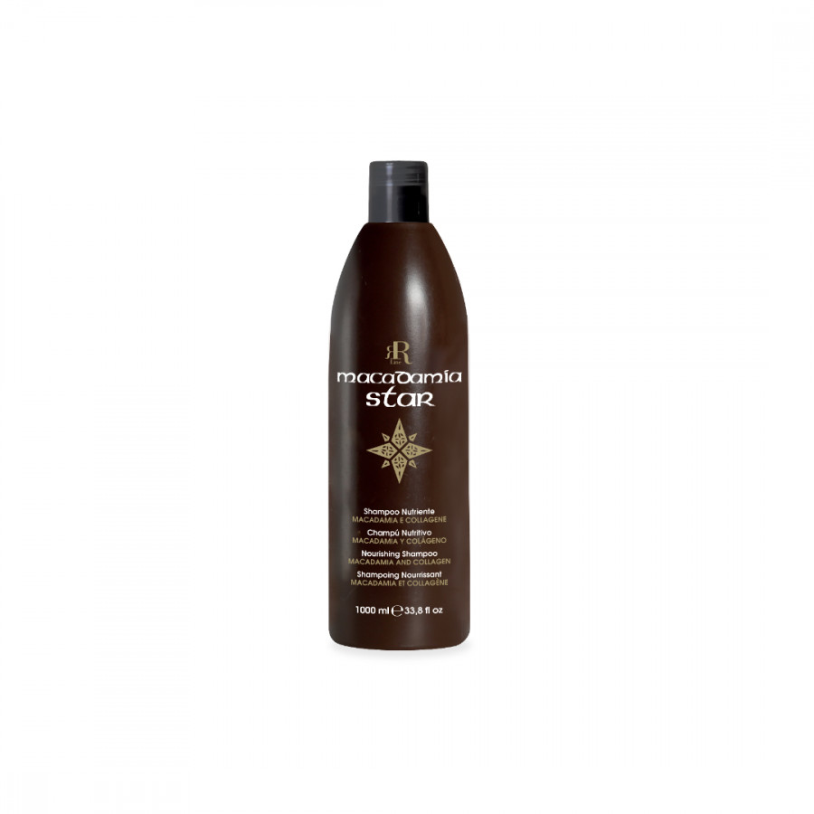 Dầu gội Ý phục hồi tóc hư tổn Rrline Macadamia Collagen Star Shampoo 1000ml