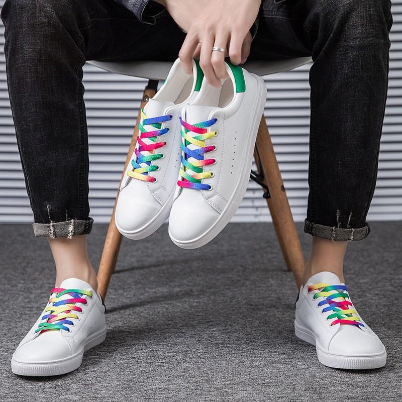 Dây Giày Thể Thao Bản Dẹp Mỏng 120cm Bằng Vải Nhiều Màu Sắc Có Thể Buộc Giày Thể Thao, Bata, Boots