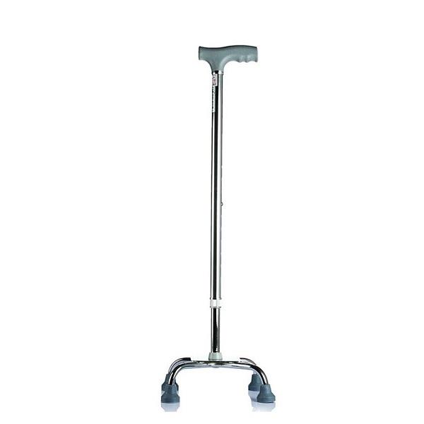 Gậy chống 4 chân thấp Lucass B924 hỗ trợ đi lại cho người già, khả năng đi lại kém, chất liệu inox chắc chắn
