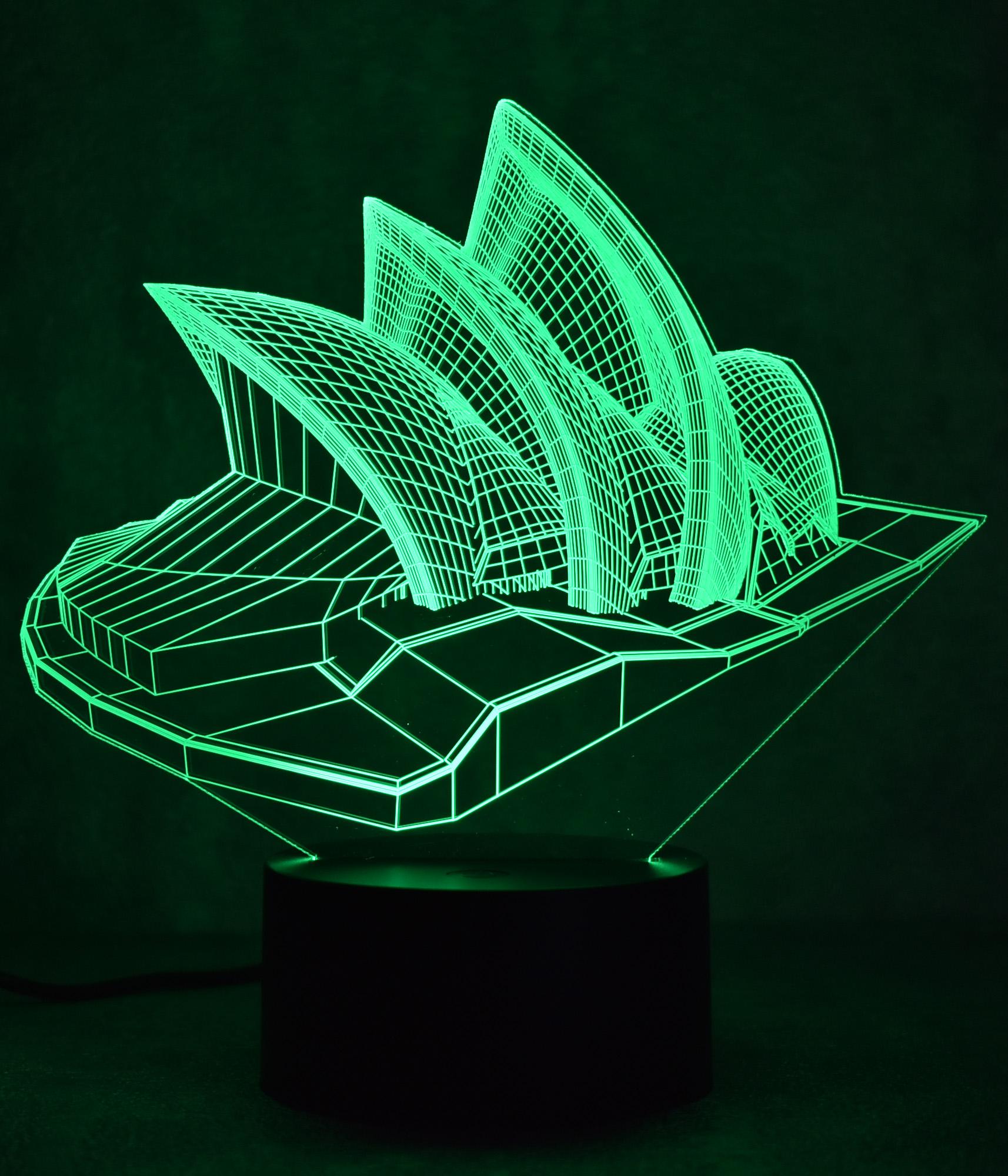 Đèn ngủ 3D - Đèn led 3D hình tháp công tắc cảm ứng