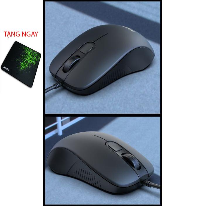 Chuột máy tính văn phòng Tặng lót chuột cao cấp