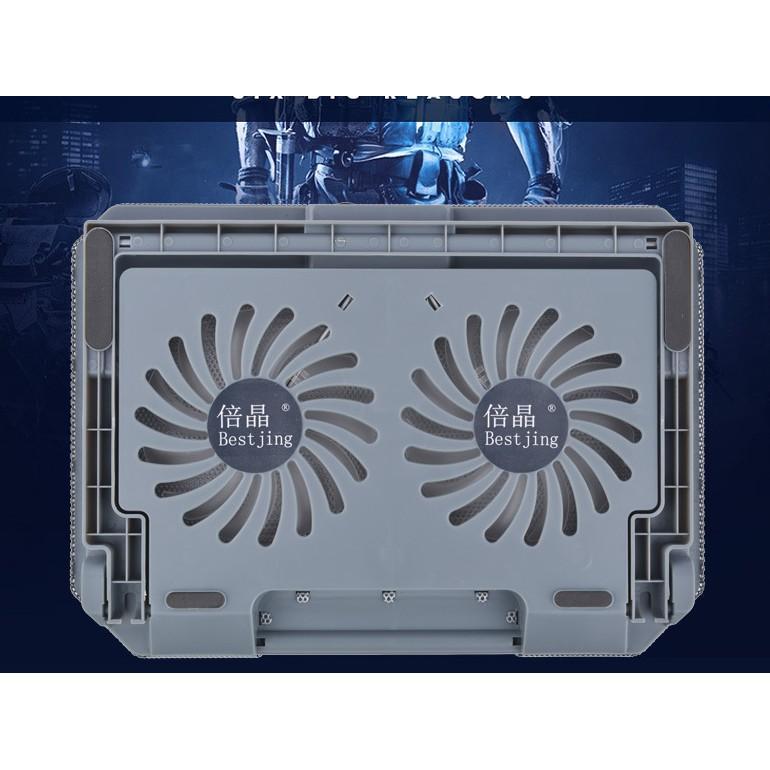 Đế giá đỡ quạt tản hút nhiệt laptop máy tính bền tốt - quạt tản nhiệt to chạy êm làm mát cực nhanh
