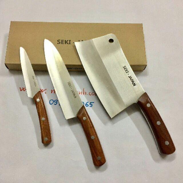 COMPO bộ 3 dao SEKI-JAPAN xuất nhật cao cấp - BO DAO SEKI