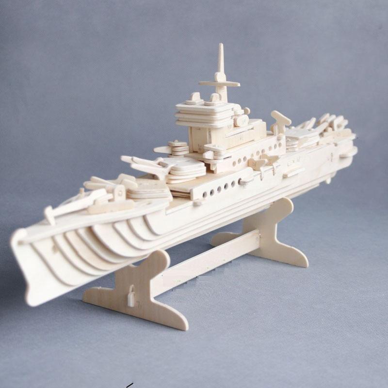 Đồ chơi lắp ráp gỗ 3D Mô hình Tàu Tuần Dương Hạm
