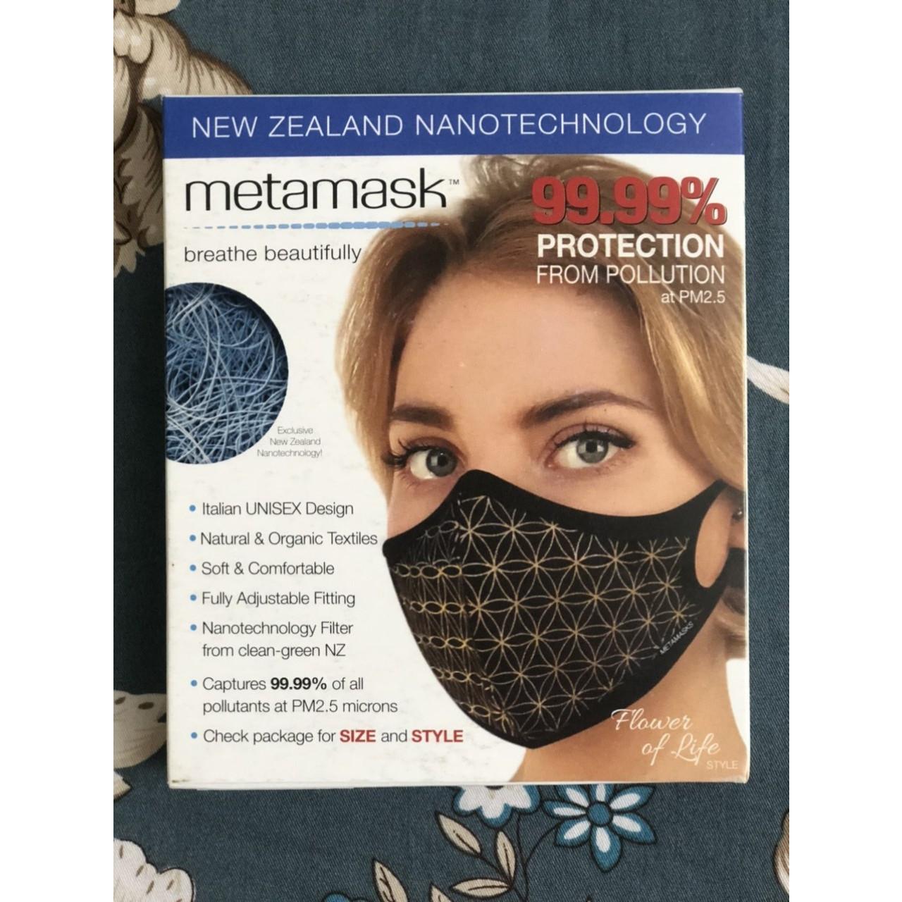 Khẩu Trang Cao Cấp Metamasks - Phòng chống hiệu quả Bụi Mịn Và Các Vi Khuẩn, Virus Có Hại  - M - Flower