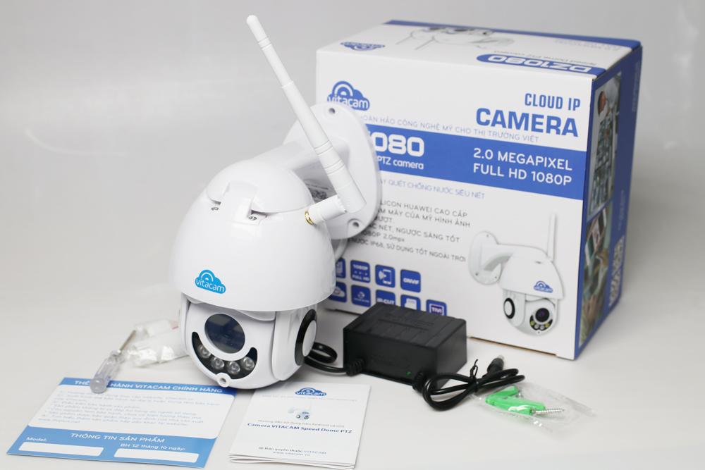 Camera IP Wifi chính hãng Vitacam DZ1080 - Ngoài trời Speed Dome PTZ 2.0mpx Full HD 1080P
