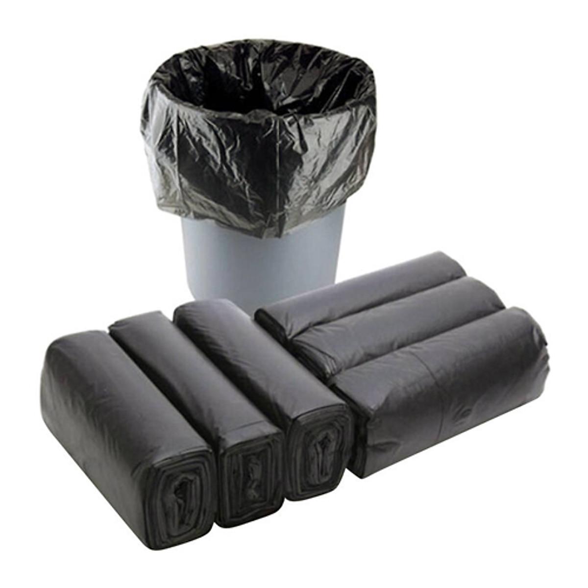 Combo 6 cuộn Túi đựng rác gia đình, Bao đựng rác văn phòng tiện lợi màu đen size tiểu 45x55 cm