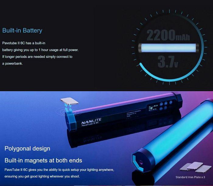 Đèn LED Nanlite PavoTube II 6C RGB hàng chính hãng.