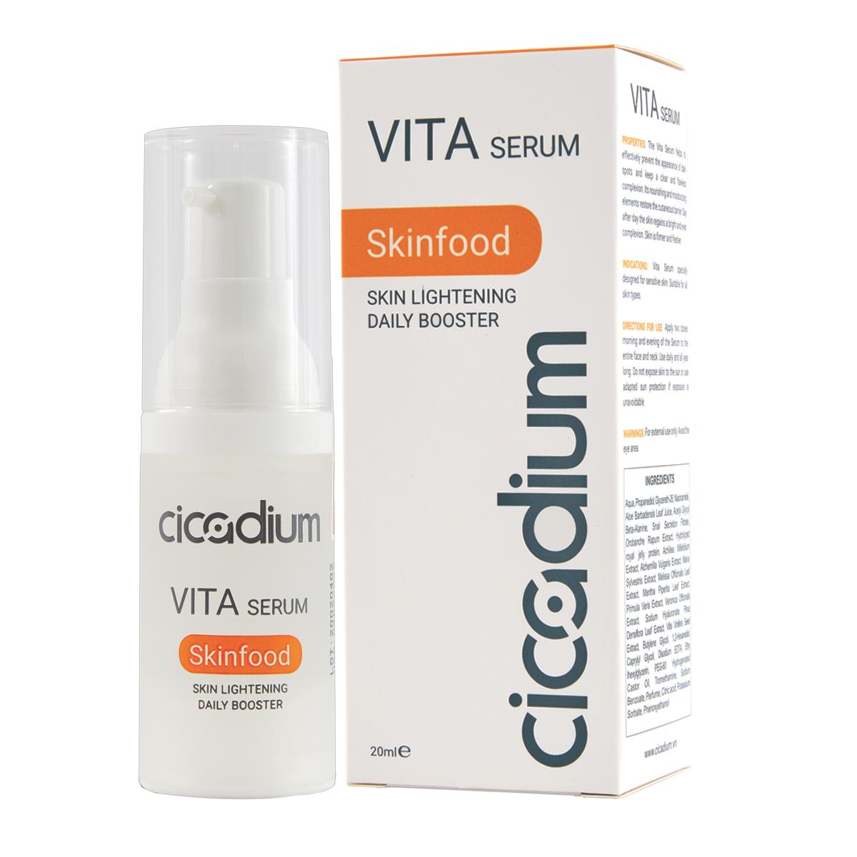 Bộ 3 sản phẩm dưỡng da trắng khoẻ và ngăn ngừa lão hoá Cicadium