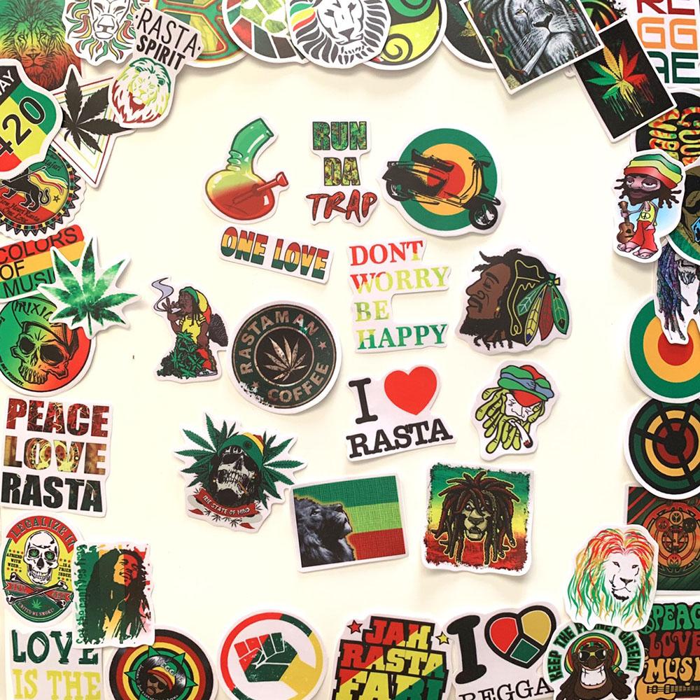 Bộ 20 Sticker Rasta Rastafari (2020) Hình Dán Chống Nước Decal Chất Lượng Cao Trang Trí Va Li Du Lịch, Xe Đạp, Xe Máy, Laptop, Nón Bảo Hiểm, Máy Tính Học Sinh, Tủ Quần Áo, Nắp Lưng Điện Thoại