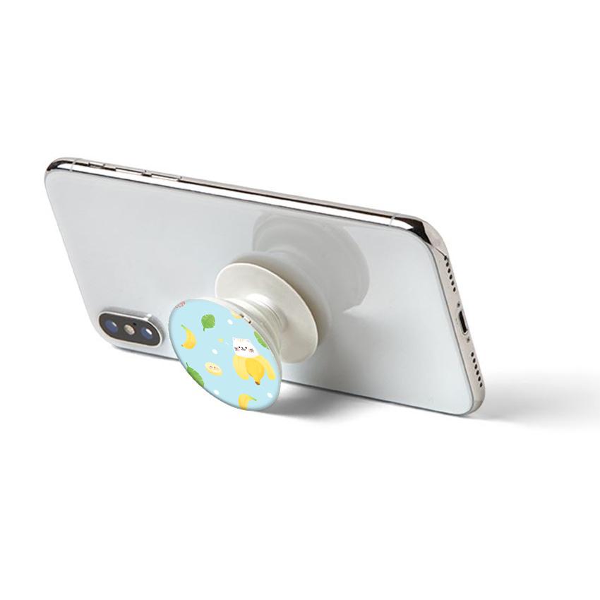 Gía đỡ điện thoại đa năng, tiện lợi - Popsockets - In hình BANANA 02 - Hàng Chính Hãng