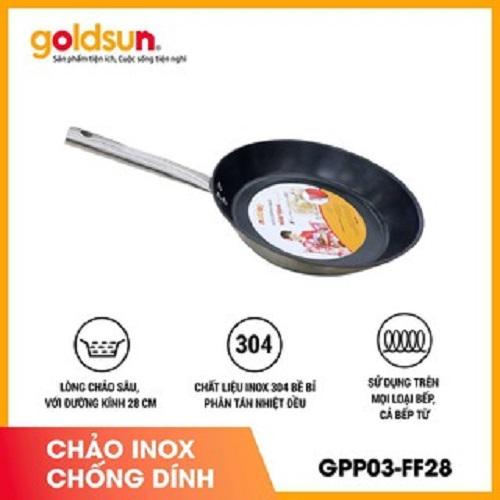 Chảo chống dính inox GPP03-FF28- Hàng chính hãng