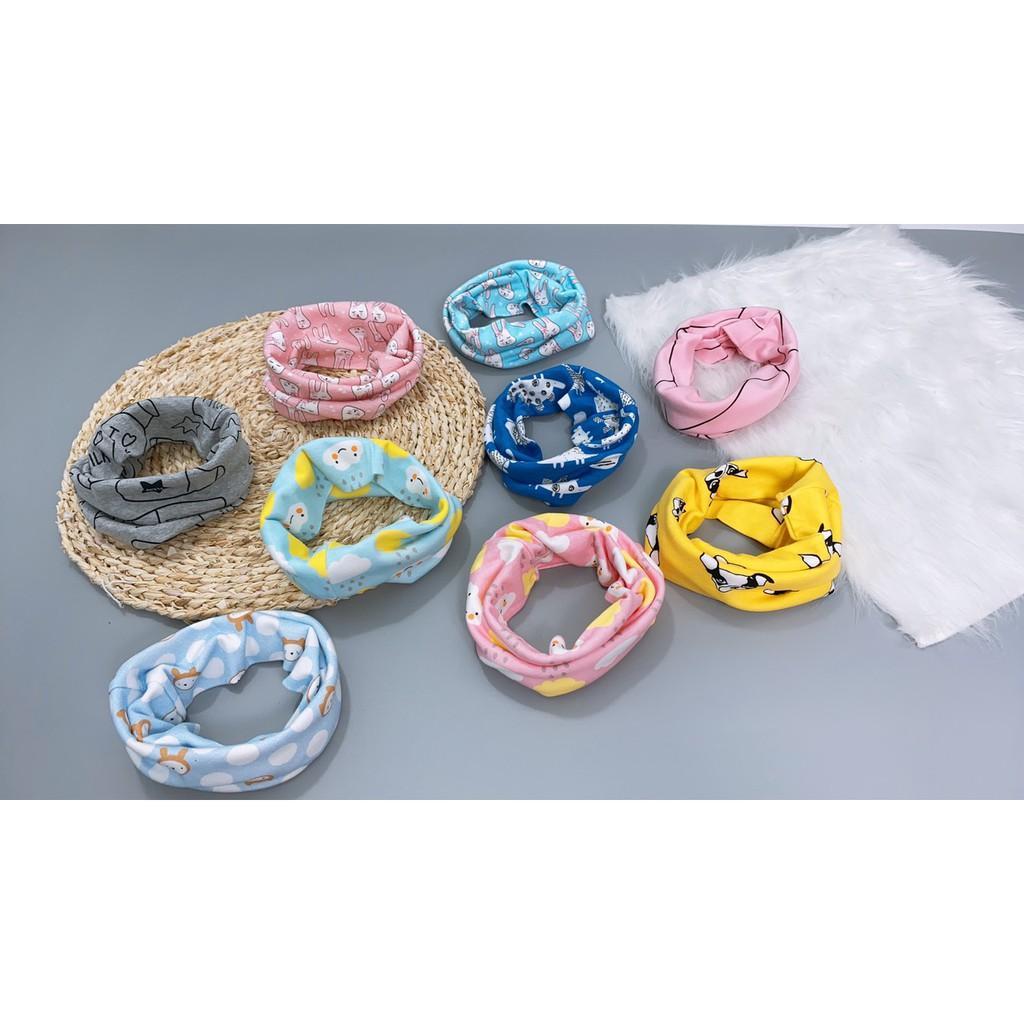 Khăn ống cotton  quấn cổ đa năng cotton giữ ấm cho bé phong cách Hàn Quốc