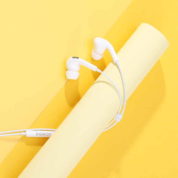 Tai nghe có dây ROBOT Đàm thoại tương thích với điện thoại Samsung Oppo Xiaomi Huawei iphone- Hàng chính hãng
