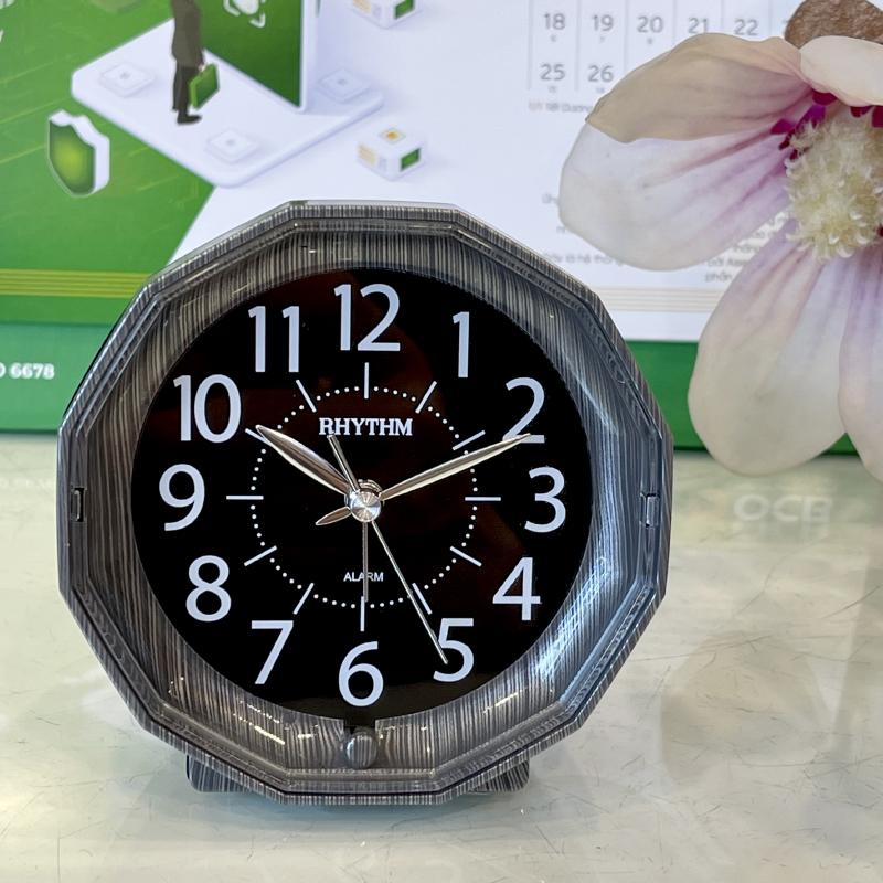 Đồng hồ để bàn Nhật Bản Rhythm CRE852NR08 - Kt 9.0 x 9.0 x 5.0cm, 105g.