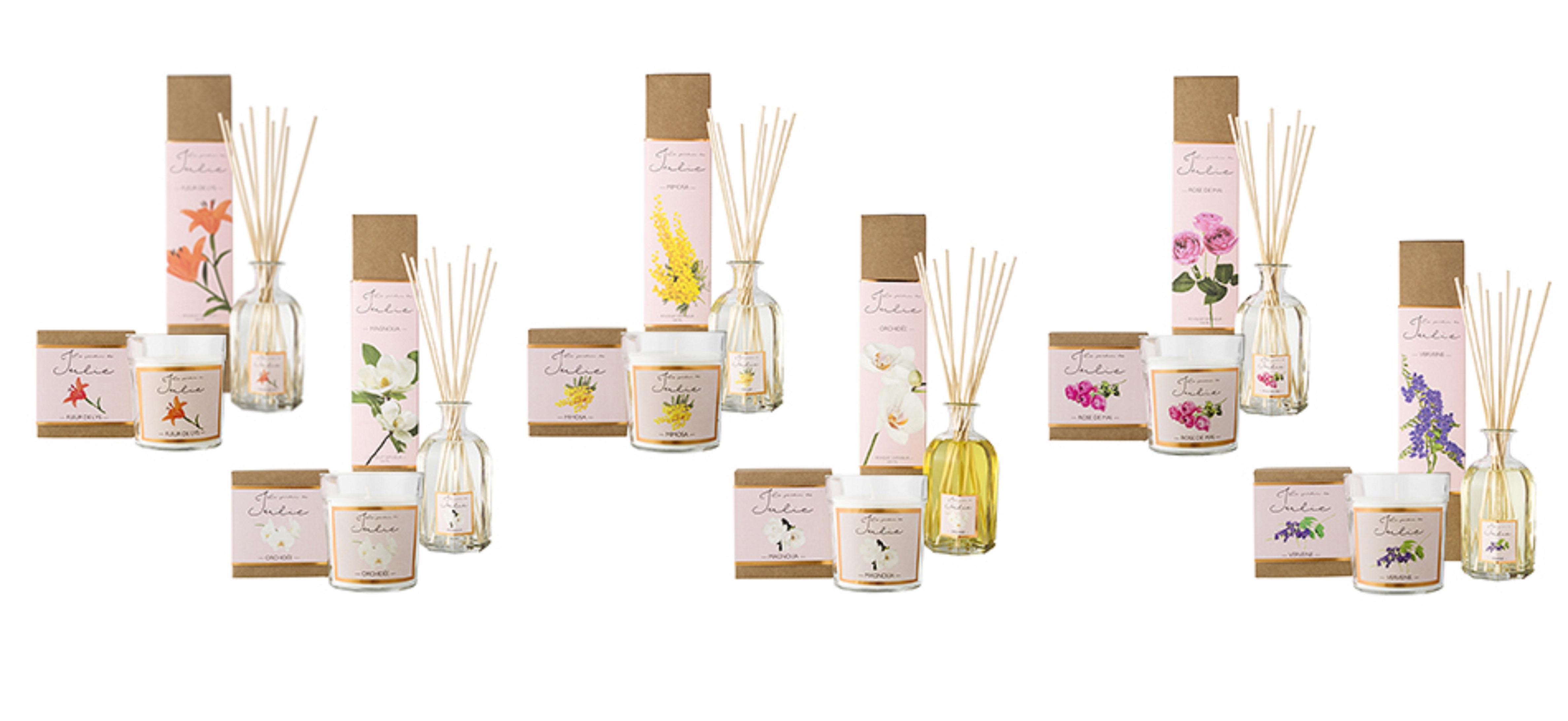 Nến thơm tinh dầu Le Jardin de Julie mùi VERVEINE