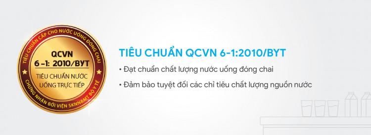 Đảm bảo nước uống đạt chỉ tiêu vi sinh theo tiêu chuáºn nước uống đóng chai QCVN6-1/2010 Bộ y tế.