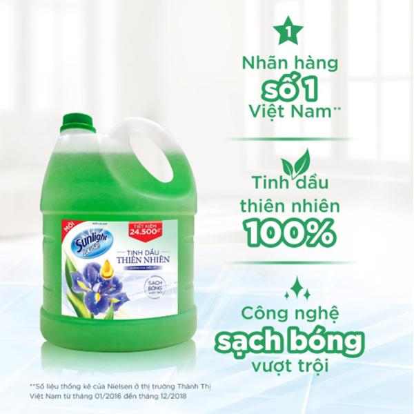 Hình ảnh Nước Lau Sàn Sunlight Tinh Dầu Thiên Nhiên - Hương Hoa Diên Vỹ 3.8kg