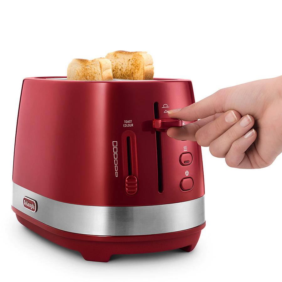 Máy Nướng Bánh Mì Delonghi CTLA2103.R (800W) - Đỏ - Hàng Chính Hãng