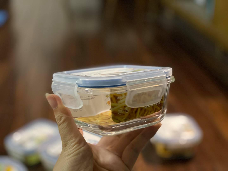 Set 3 hộp thủy tinh vuông inochi (320ml-520ml-800ml) (tiêu chuẩn Nhật Bản)