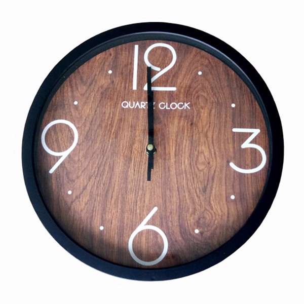 Đồng hồ treo tường Quartz vân gỗ cao cấp