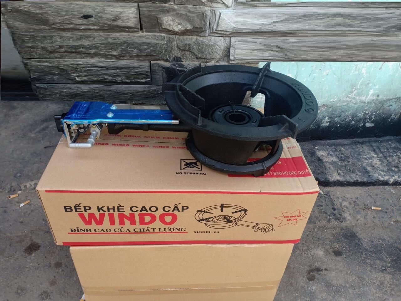 Bếp gas công nghiệp lửa khè Windo- 6A ,tặng dây -Hàng Chính Hãng