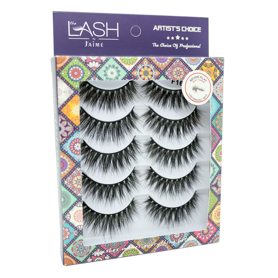 Hộp 5 Cặp Lông Mi Lụa F16/Lust For Love Multipack The Lash by J'aime
