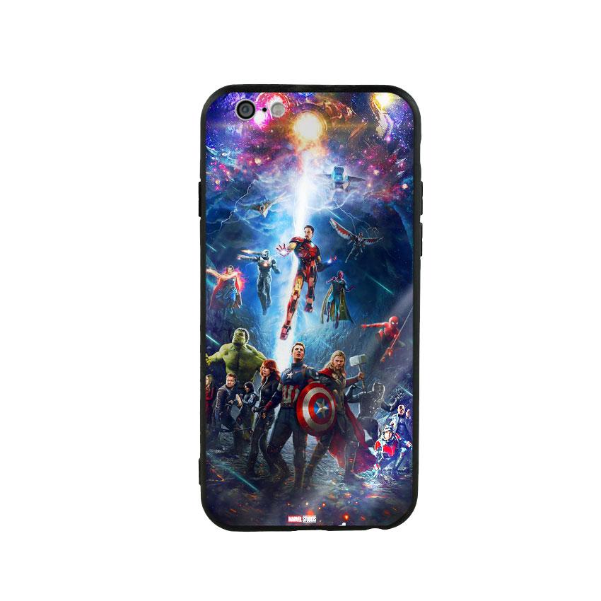 Ốp Lưng Kính Cường Lực cho điện thoại Iphone 6  6s - Marvel 02