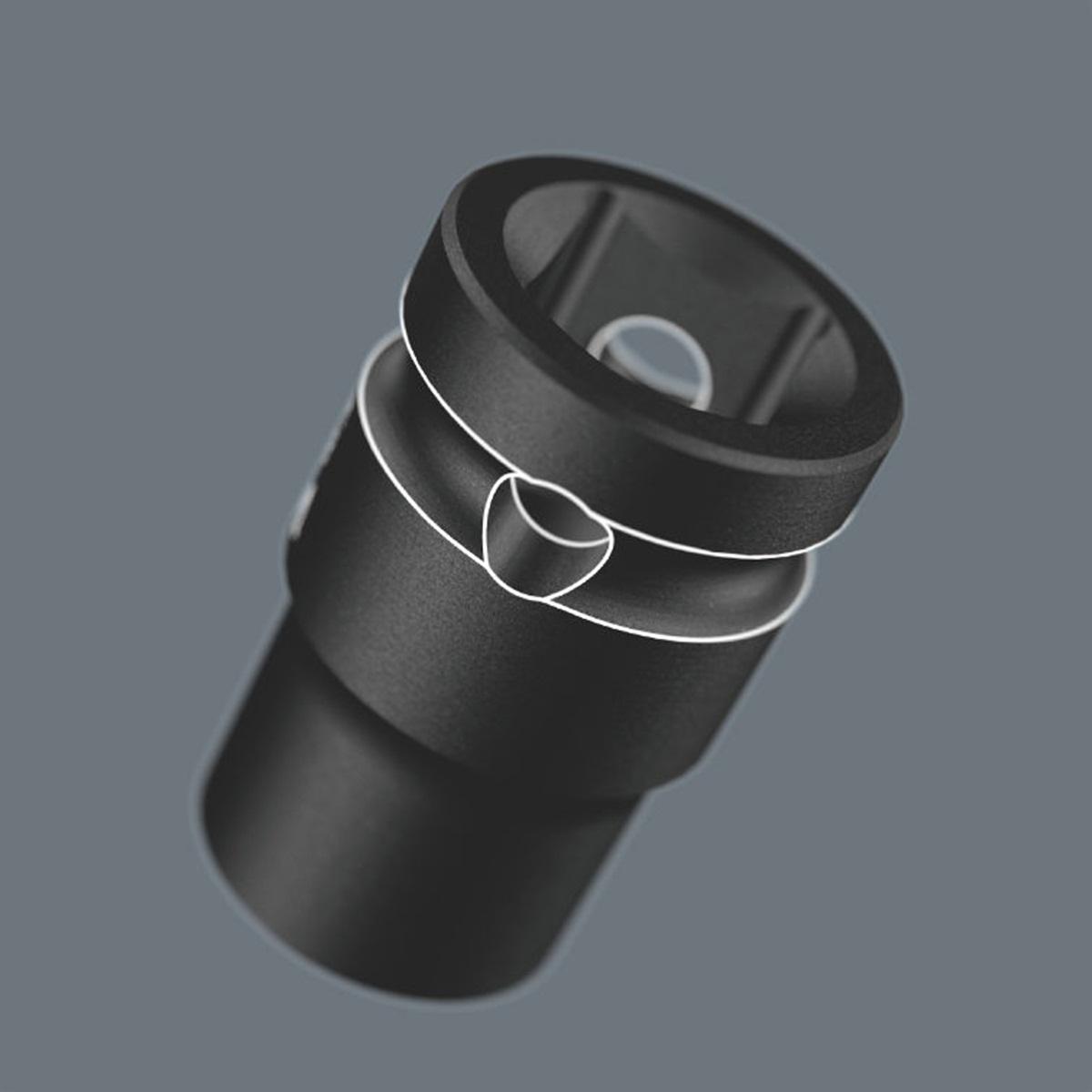 "Đầu tuýp 14mm Impaktor 8790 C Impaktor socket with 1/2"" drive Wera 05004571001"