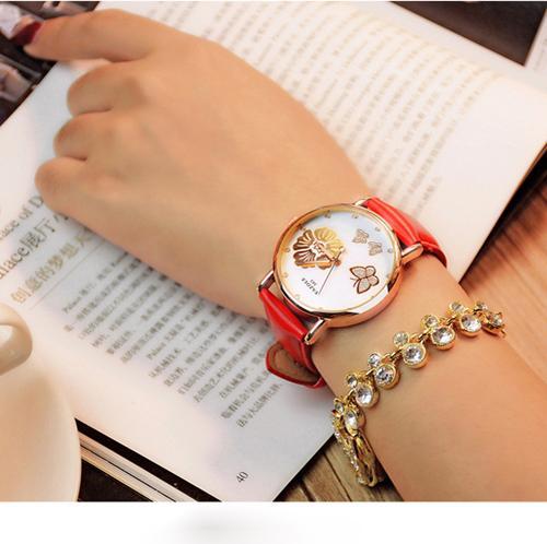 Đồng hồ thời trang nữ mặt trắng DHHBTR
