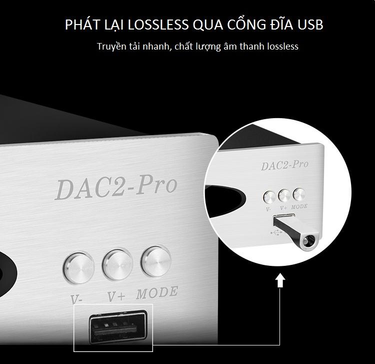 Bộ DAC Giải Mã Âm Thanh Bluetooth 32BIT 192KHZ TRASAM DAC2 PRO Cao Cấp AZONE - Hàng Nhập Khẩu