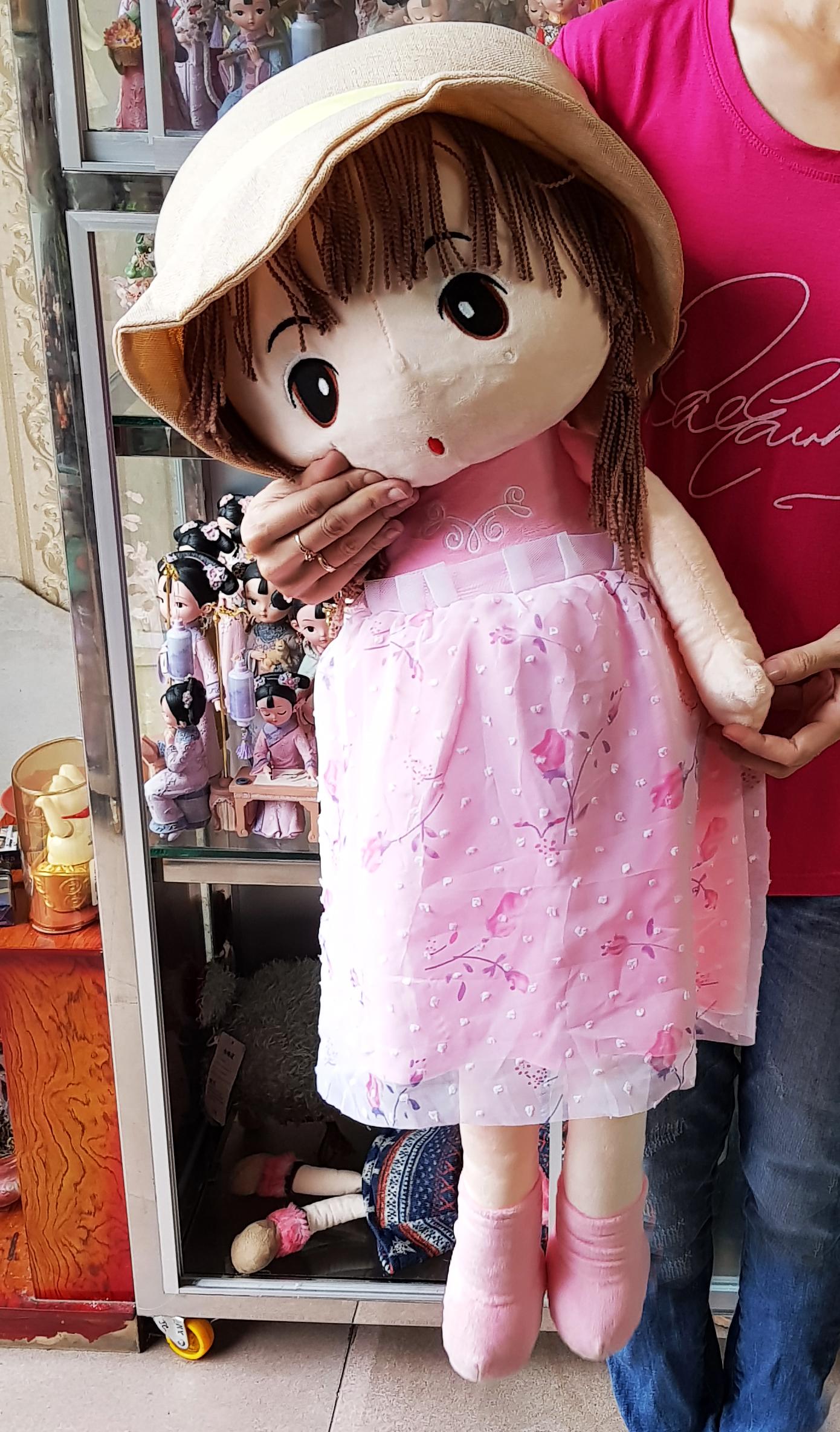 Búp bê bằng bông size to 90cm cho bé gái