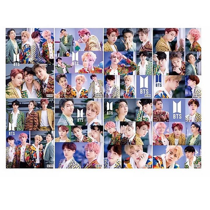 Tranh tô màu thần tượng BTS tranh in hình nhóm nhạc Hàn Quốc