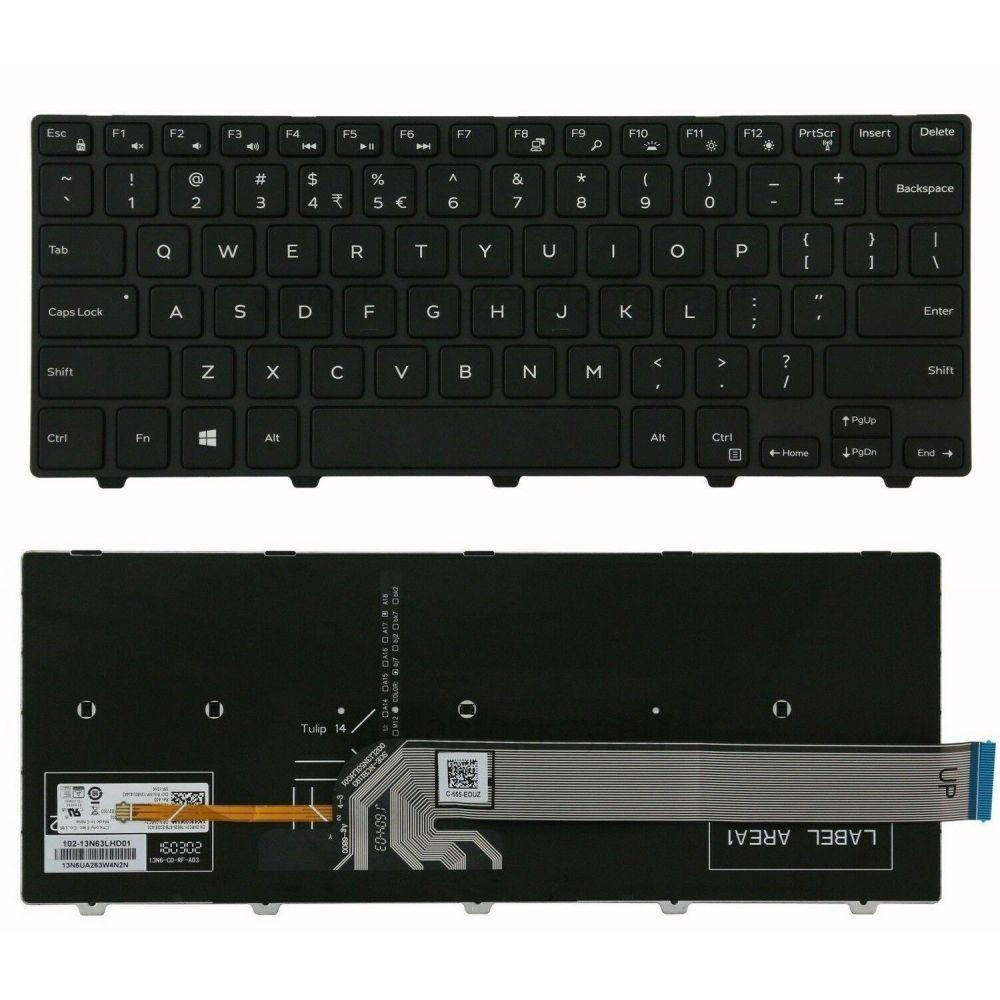 Bàn phím thay thế dành cho laptop Dell Vostro 5458, 5489, Latitude 3450, Inspiron 7447, 5447, 5448, 5458, 5459, 3442, 3443 có đèn nền