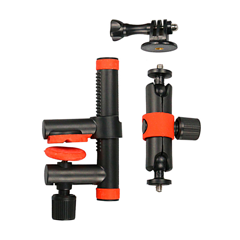 Kẹp Action Clamp with Locking Arm (Dùng cho Gopro, Osmo Action, Sjcam...)