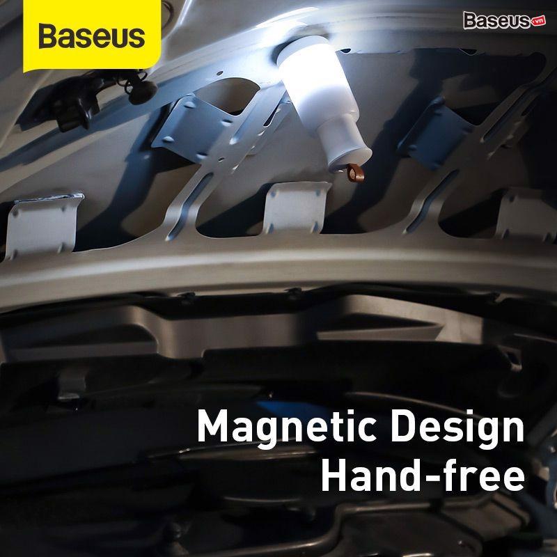 Đèn mini pin sạc tiện dụng Baseus starlit Night Car Emergency Light (500mAh Rechargeable, 4 Light Mode, Magnetic Holder)hàng nhập khẩu