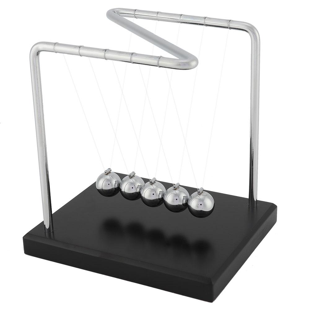 CON LẮC NEWTON PHIÊN BẢN IDEASHOP ĐẾ GỖ 14 x 12 x 15 cm (CRADLE BALANCE BALLS)
