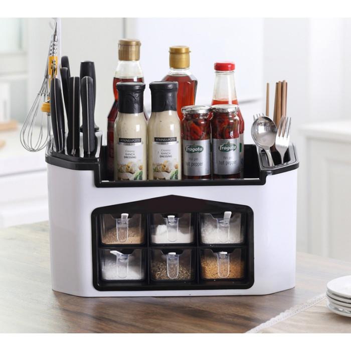 Kệ nhà bếp đa năng đựng gia vị và đồ dùng nhà bếp loại mới - giao màu ngẫu nhiên