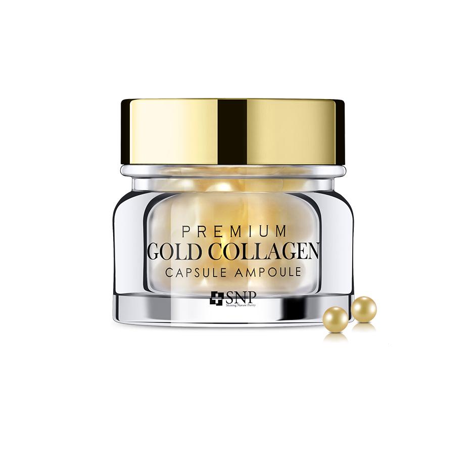 Viên Dưỡng Da Tinh Chất Vàng Collagen Chống Lão Hóa Chuyên Sâu SNP PREMIUM GOLD COLLAGEN CAPSULE AMPOULE