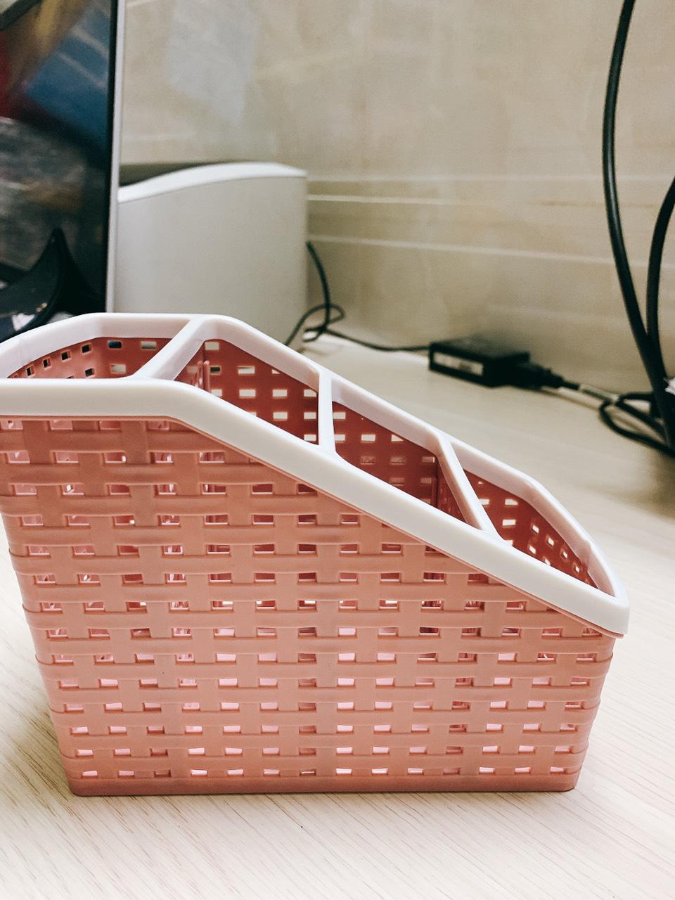[khay đựng bút, khay đựng, khay nhựa] Khay nhựa tiện ích 4 ngăn MRS đa năng giao ngẫu nhiên
